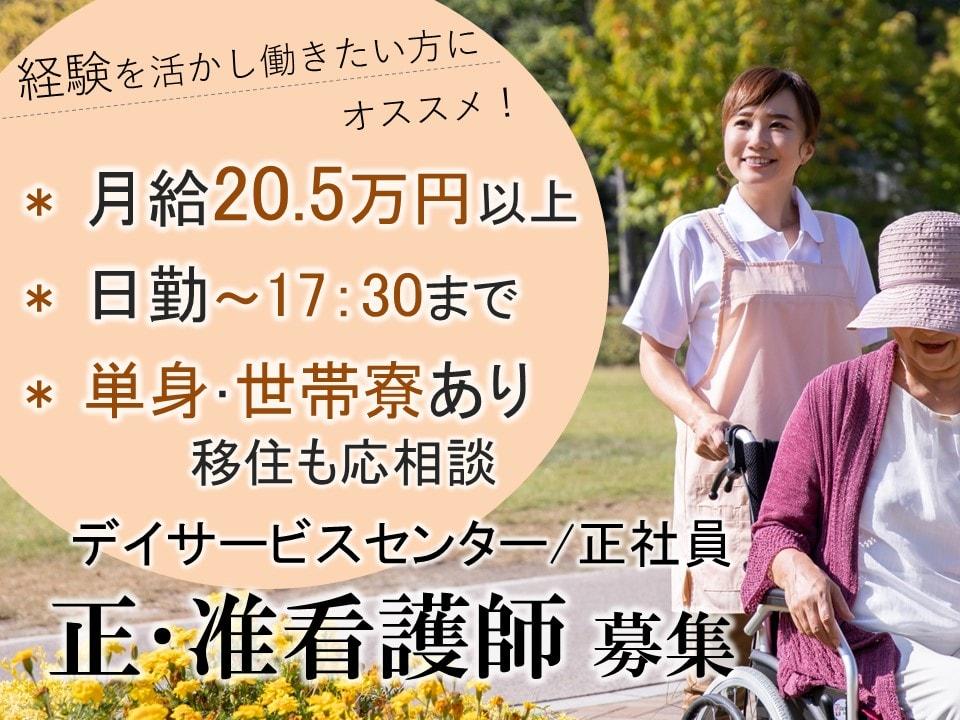 日勤で主婦活躍 月20万以上 日曜休みのデイサービス 正准看護師 イメージ