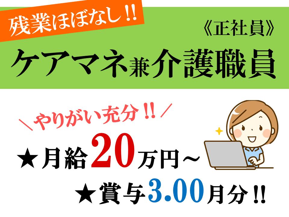 月20万以上 賞与3月分の特養 ケアマネ(介護支援専門員) イメージ