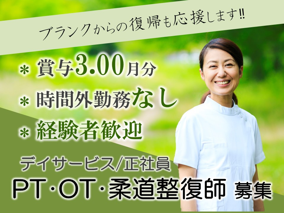 賞与3月分、デイサービスのPT OT 柔整 イメージ