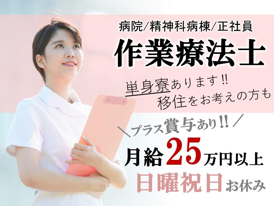 移住者歓迎 単身寮完備 日祝休みの病院 OT(作業療法士) イメージ