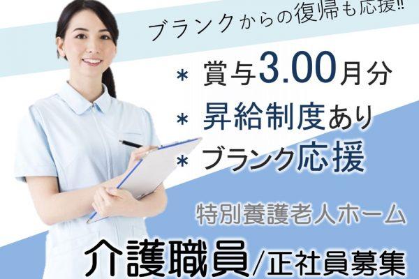 移住者歓迎 月20万円以上 賞与3.00ヶ月分の特養  初任者研修以上 イメージ
