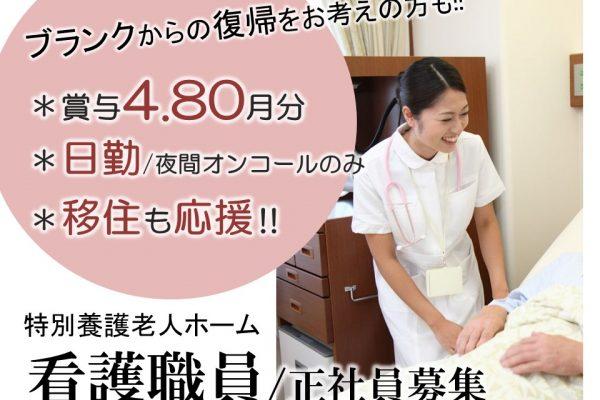 月16.7万以上 日勤~17:30 単身用住宅ありで移住者歓迎 の特養 正准看護師 イメージ