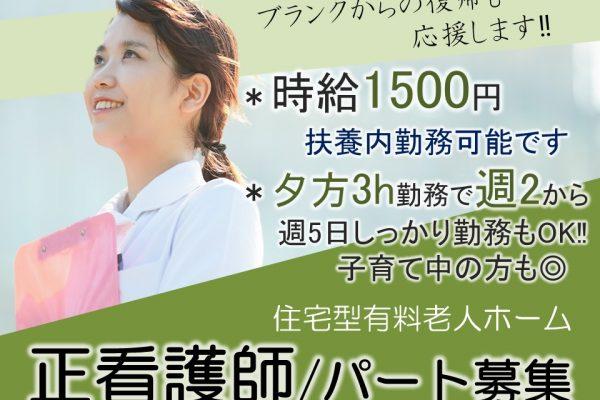 Wワーク可 夕方3hの週2からで主婦活躍 老人ホームへの訪問看護 正看護師 イメージ