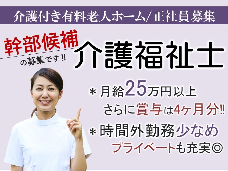 佐久市長土呂 l 月25万以上の有料老人ホーム  介護福祉士(幹部候補) イメージ