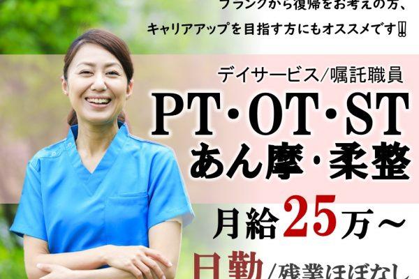 長野市豊野 デイ PT OT ST 理学療法士 作業療法士 言語聴覚士 柔整 あん摩 イメージ